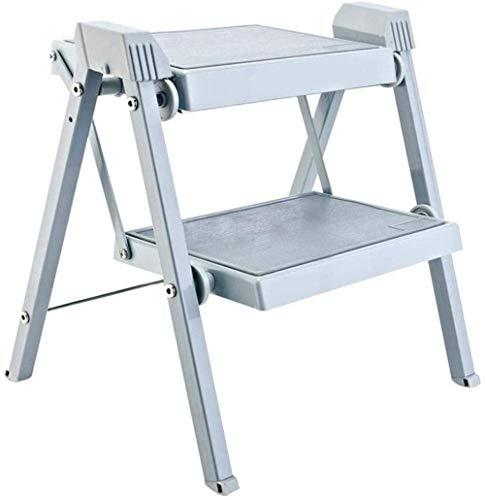 ZAIHW Taburetes escalonados Escalera Silla Plegable de Dos escalones para Trabajo Pesado Espesar Cocina Creativa Gabinete de Zapatos Escalera retráctil 37CM × 40CM × 41CM Banco
