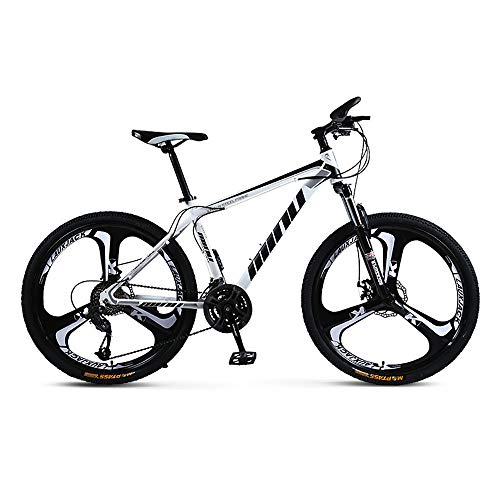 YGRSJ 26'Wheel Mountain Bike 24 velocità, Cruiser Bicycle Beach Ride Travel Sport Bianco/Rosso,White