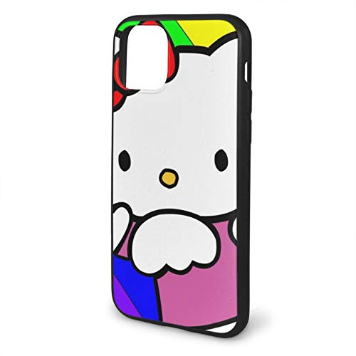 VOROY Funda protectora para iPhone 11 Pro Max 6.5, diseño de gato anime Hellokitty A-P-P-L-E