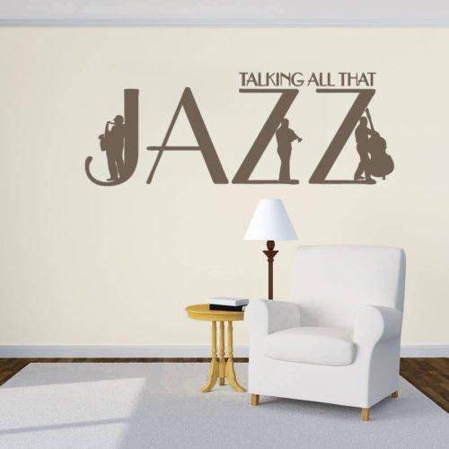 Wandaufkleber, Vinyl, Zitat Jazz Trompete Jazzman Instrument