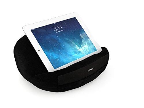 padRelax Negro I Soporte para e-Readers y tabletas de hasta 12.9 Pulgadas, Cama, sofá, Mesa, Compatible con Apple iPad, Compatible con Samsung Galaxy