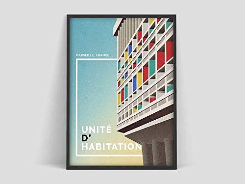 Impresión de arte Le Corbusier, cartel de habitación, arte abstracto francés, impresión del cubismo del museo, pintura moderna, lienzo sin marco E 30x45cm