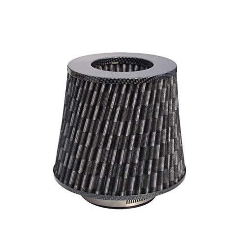 Filtro Aire Conico Filtro Aire Coche Carburador limpiador Rendimiento filtro de aire Filtro de aire para bicicleta Pit Pit Bike plásticos Carbon Pattern,One Size