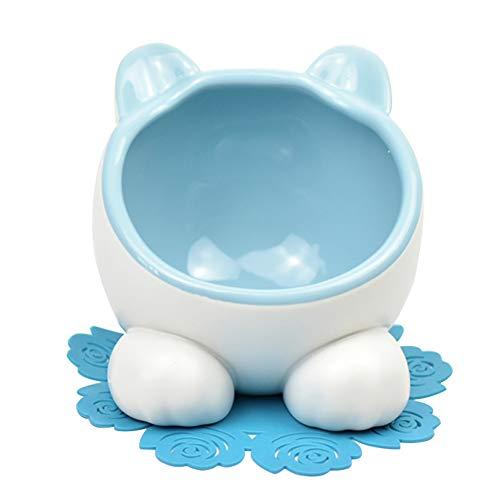 XDYFF Slow Eating Dog Bowl Interactive Feeder Cat Bowl Pet Double Bowl Garfield Bowl Ceramic Flat Face Cat Slanting Bowl Teddy Dog Bowl Cat Rice Bowl