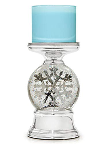 3-Wick Candle Holder Compatible with White Barn Bath & Body Works 3-Wick Candles - Water Globe Musical Snowflake Pedestal (Candle NOT Included)