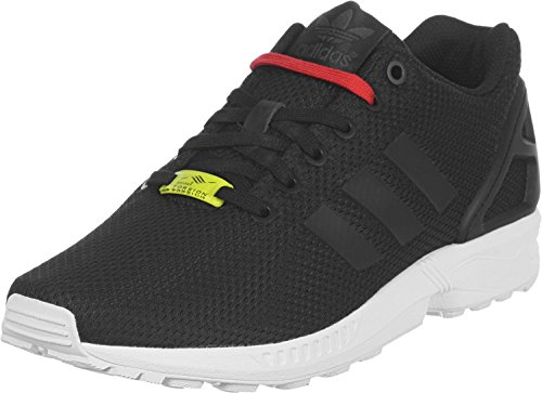 Adidas Unisex-Erwachsene ZX Flux M19840 Low-Top, Schwarz (Black/Black/White), 46 2/3 EU