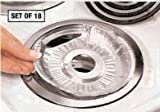 DISPOSABLE FOIL BURNER LINERS - ELECTRIC STOVES SET OF 18 BY JUMBL