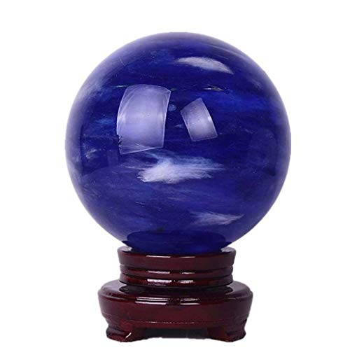 dhcsf Crystal Ball Feng Shui Divination Ball Blue Blue Lucky Ball di Cristallo, con Stand Desktop Decorazione Desktop Decorazione Domestica (Size : A20cm)