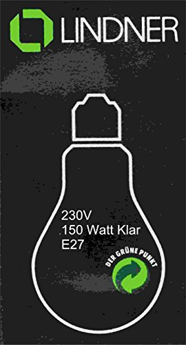Lindner Glühlampe E27, 150W, klar, AGL