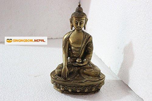 Sitting 8.5' Buddha Earth Touching Mudra Statue - Buddhist Healing Medicine Religious from Nepal
