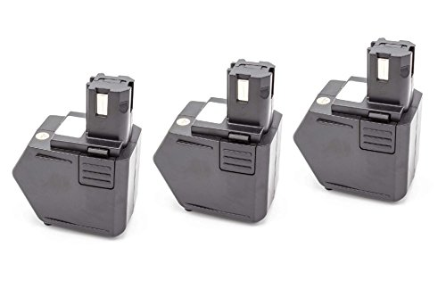 vhbw 3x NiMH Akku 1500mAh (12V) für Elektrowerkzeug Werkzeug Powertools Tools Hilti SB12, SF120-A, SFB105, SFB125, SFL12