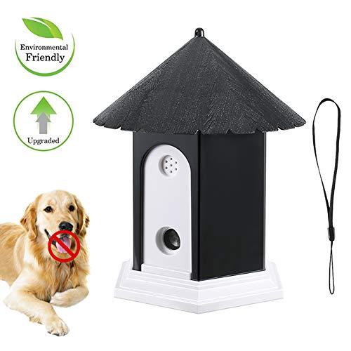 Bofunuo Ultrasonic Dog Bark Control Outdoor Dog Anti Bark Preventive Stop Barking Device Cute Bird House Box Design Waterproof for Home Garden Hanging Battery Operated