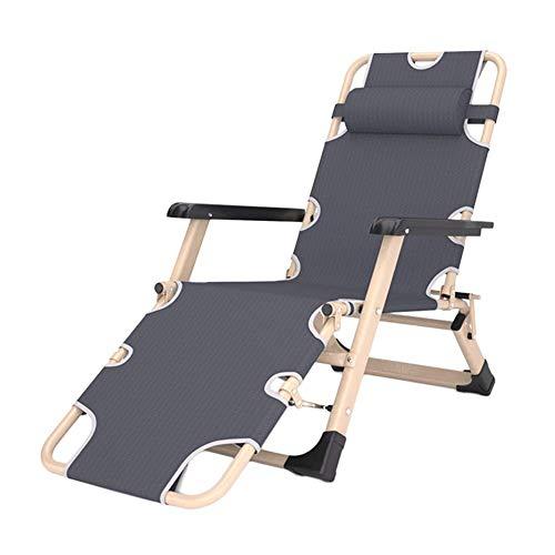 GY-C Sillas de salon para exteriores Heavy Duty Patio Zero Gravity, sillas de playa reclinables plegables ajustables de gran tamano para jardin, soporte 200 kg habitacion/A