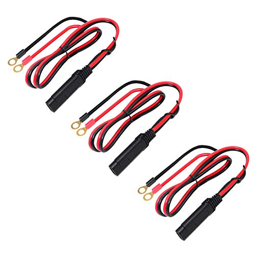 Sae to O Ring Terminal - 2ft Quick Disconnect Extension Cable Motorcycle Battery Charger Assembly Cord 10A (3)