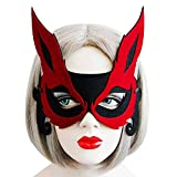 EVRYLON Sexy katzenmaske der katzenfrau mit den schwarzen gewebeohren
