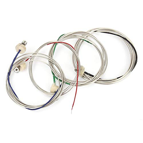 Fafeims Cuerda para Contrabajo, 4 Piezas IRIN Steel Bajo para Violonchelo Cuerdas...
