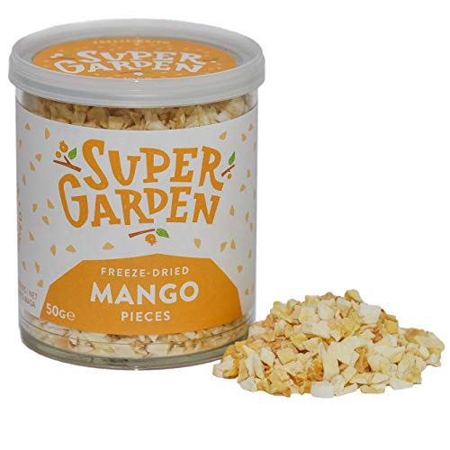 Supergarden Freeze Dried Mango Pieces - 100% Pure and Natural - Vegan Friendly - No Added Sugar, no Artificial additives and no preservatives - Gluten Free- Non-GMO