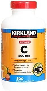 Kirkland Signature Chewable Vitamin C 500 Mg Tangy Orange Taste: 500 Tablets
