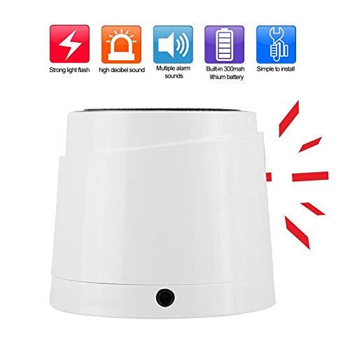 Draadloze strobe sirene, 110-240V geluid en licht strobe knipperende sirene alarmsysteem, draadloos 110dB alarmsysteem voor buiten met 300mAh batterij (EU stekker)