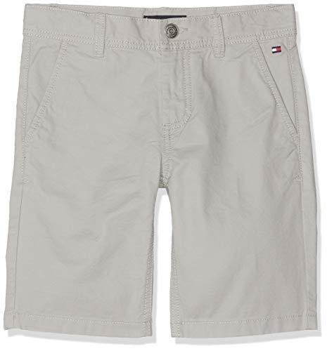 Tommy Hilfiger Jungen Essential Twill New Chino Shorts, Grau (Drizzle 075), 164 (Herstellergröße: 14)