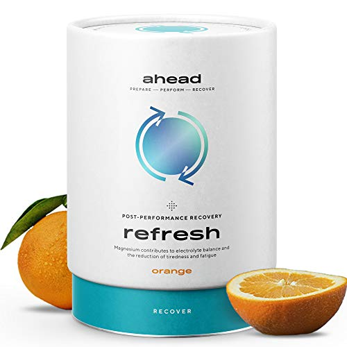 ahead REFRESH Post Workout Recovery Drink, Isotonisches Getränkepulver zur Regeneration 450g, Vegan mit Magnesium, Elektrolyte, L-Citrullin, Kreatin, KSM66 Ashwagandha, LCLT, Made in Germany