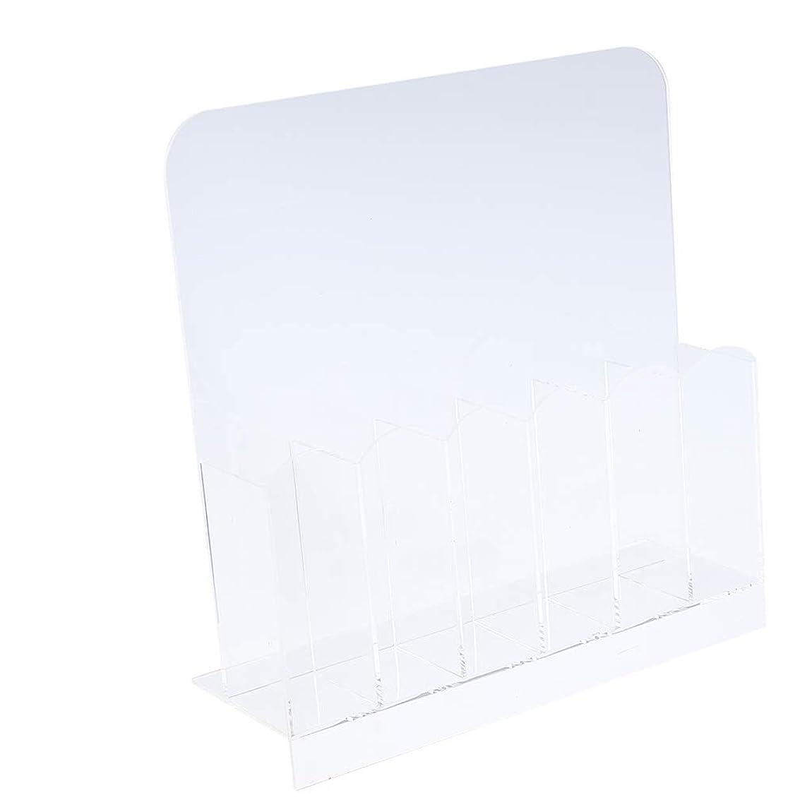 対処する温かい真っ逆さまF Fityle 6グリッド 空ネイル収納ボックス マニキュアツール 収納ケース オーガナイザー クリアホルダー