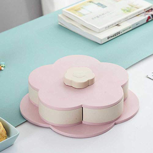 Langy Opbergdoos, single / double rotary bloem, voor bruiloften, snacks, fruit, bonbons, levensmiddelen, bewaardoos