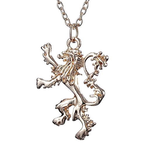 Joyería De Personalidad De Moda Dominante Periférica Canción De Hielo Y Fuego Juego De Tronos Collar Con Emblema De León Lannister