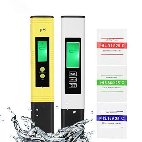 PH Meter and TDS Meter Combo, PH Tester Digital, PPM Digital Water Tester, 0.05ph High Accuracy Pen Type pH Meter, Readout Accuracy 3-in-1 TDS EC Temperature Meter