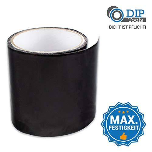 DIP-Tools Aquatape - Cinta Adhesiva para Fugas de Agua Innovadora e Impermeable - Reparaciones Sencillas en Piscinas, Casas, Canalones y muchas otras áreas Interiores y Exteriores (1, Negro)