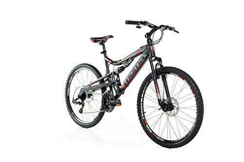 """Moma Bikes Bicicleta Montaña EQX 26"""", Aluminio, SHIMANO 24 V, Doble Freno Disco, Doble Susp, talla L (1,70-1,79 m)"""