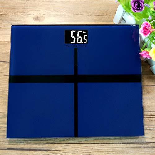 Intelligent Lichaamsvet Schaal For Lichaamsgewicht Weegschaal Met Groot Display, 400 Pond 180kg Max, Human Health Scale (Color : Blue)