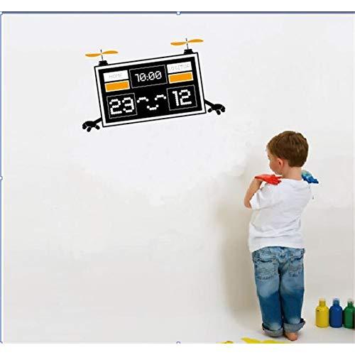 Cartoon Counter Robot vliegen op de lucht muur Stickers Children's kamer Decor jongen kamers Decoratie