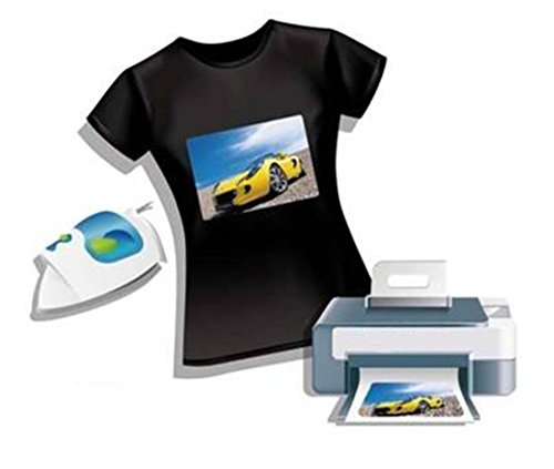 2AINTIMO transferpapier Ink-Jet bladen voor T-shirts, lichte of donkere stoffen f.to A4 (21x29,7 cm) Tessuti Scuri