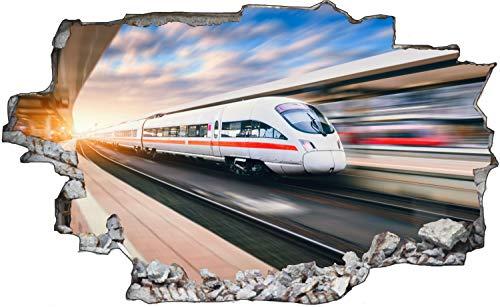 Fotografie Zug Einfahrt Gleis Wandtattoo Wandsticker Wandaufkleber C1777 Größe 60 cm x 90 cm