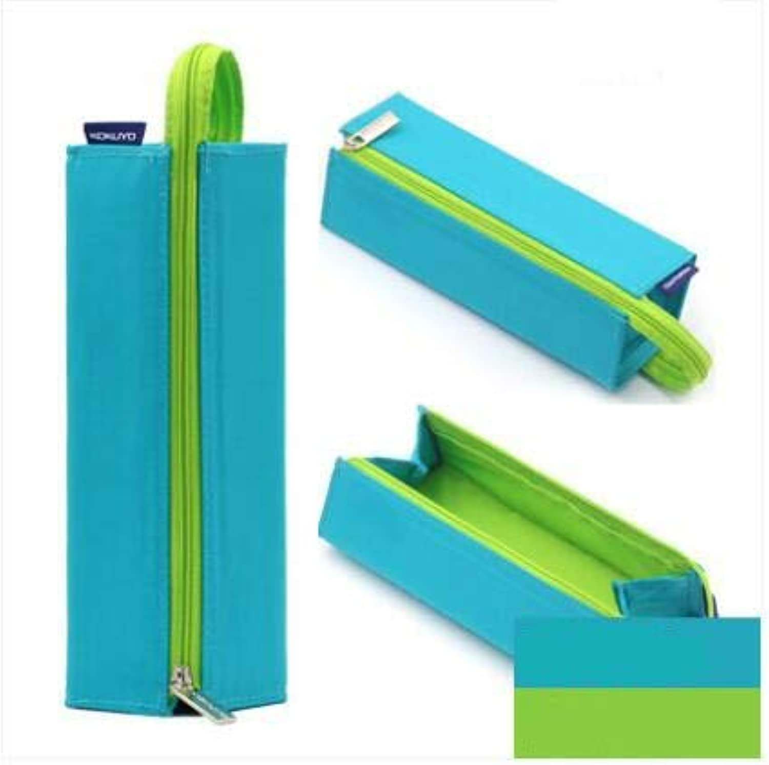 LFDQBH Square Pencil Bag For School Boy Girl Creative Design Portable Canvas Storage Tools Large Capacity Student Supplies