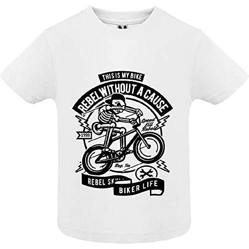 LookMyKase T-Shirt - Rebel Without a Cause - Bébé Garçon - Blanc - 6mois