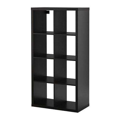 Ikea KALLAX–Regal–Schwarz–Braun