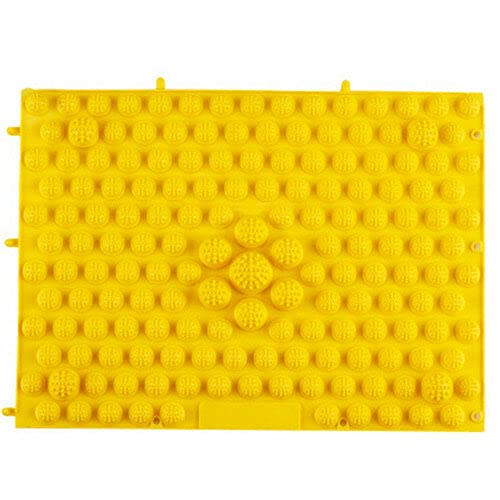 Zay Luay Inicio Colorido Acupuntura Moxibustión Pie Massager Therapy Mat Massage Massage Mat (Color : Yellow)