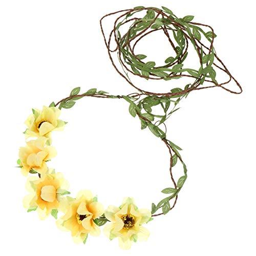 FRCOLOR 3Pcs Corona de Flores Nupcial Diadema Floral Guirnalda Bandas para El...
