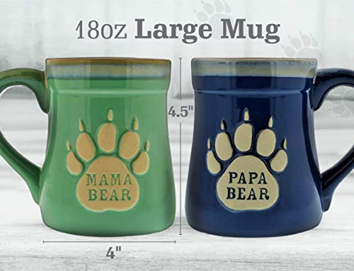 Mama and Papa Bear Ceramic Mugs
