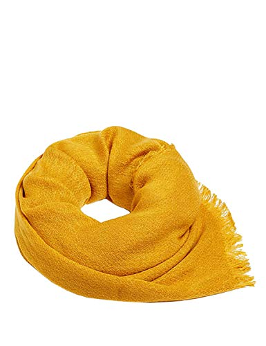 Esprit Fringed Woven Scarf Women's Yellow