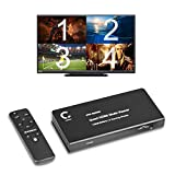 Expert Connect 4 Ports Quad HDMI Multi-Viewer/Screen Divider/Switch | 1080p @ 60Hz | 5 Viewing Modes
