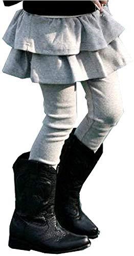 キュアキュア CURECURE ガールズ キッズ スカート 付き レギンス 子供服 女の子 スパッツ スカッツ レギパン タイツ こども 子供用 こども用 発表会 アウトドア おんなの子 おんなのこ スポーツ 10分丈 キッズ下 ガール パンツ スカンツ ズボン 大き目 大きいサイズ 大きめ 大きい シンプル 長ズボン ふんわり カワイイ 可愛い おしゃれ もこもこ 灰色 160 グレー