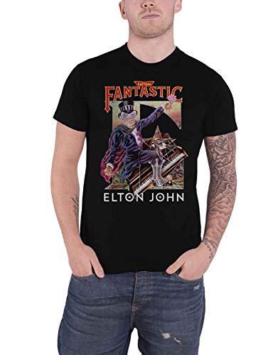Elton John T Shirt Captain Fantastic Rocketman Nue offiziell Herren Schwarz