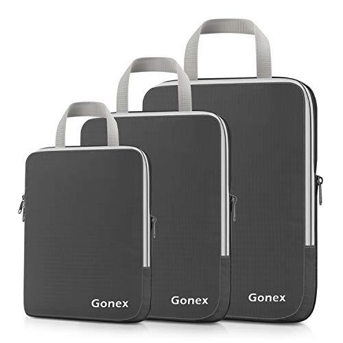 Gonex Maleta de viaje con almacenamiento expandible (3 piezas) Estándar Gris