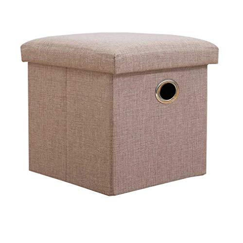 YCSD Caja De Almacenamiento Otomana Plegable con Tapas, Escabel Pequeño Trunks Toy Box, con Mango De Metal (Color : 03, Size : XXL)