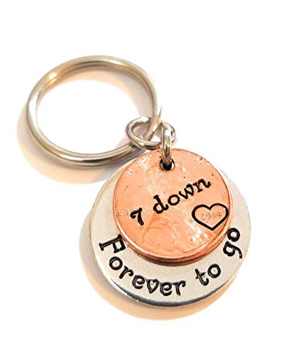 7 Year Anniversary 2013 Lucky Copper Penny with Down and Forever To...