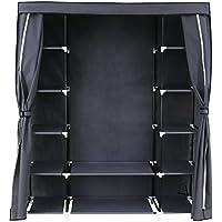 SONGMICS Armario de Tela para Closet Organizador Textil Plegable 175 x 150 x 45 cm Gris RLG45G