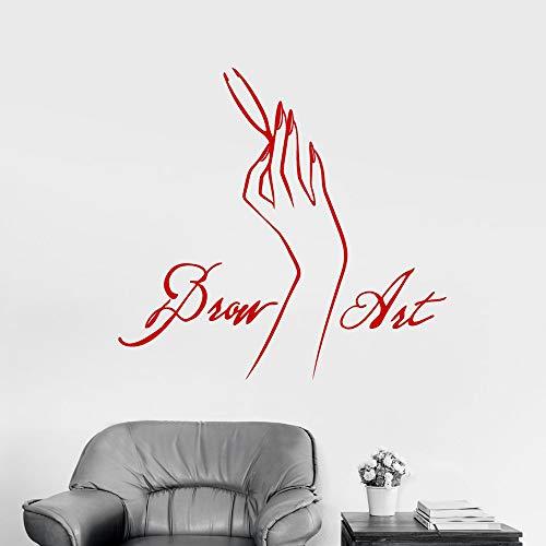 Tianpengyuanshuai vinyl wandtattoo wenkbrauwen kunst schoonheidssalon teken sticker schoonheid kunst wanddecoratie slaapkamer raamdecoratie